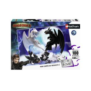 Nathan puzzles - 86767 - Puzzle 100 pièces - Krokmou en famille / Dragons 3 (404306)