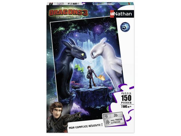 Puzzle 150 pièces - les héros réunis / dragons 3