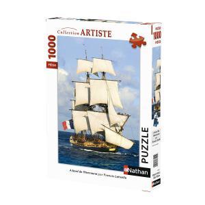 Nathan puzzles - 87622 - Puzzle N 1000 pièces - A bord de l'Hermione (404332)