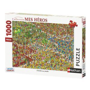Nathan puzzles - 87621 - Puzzle 1000 pièces - Charlie au jardin / Où est Charlie ? (404344)