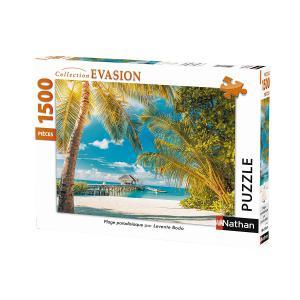 Nathan puzzles - 87794 - Puzzle N 1500 pièces - Plage paradisiaque (404346)
