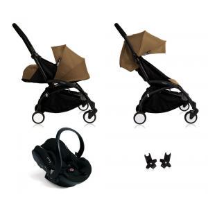 Babyzen - Bu110 - Poussette Yoyo+ complète cadre noir habillages 0+ et 6+ Toffee et siège auto iZi Go Modular noir (405750)
