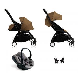 Babyzen - Bu113 - Poussette Yoyo+ complète cadre noir habillages 0+ et 6+ Toffee et siège auto iZi Go Modular gris (405756)