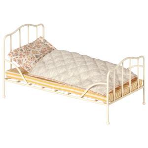 Maileg - 11-9100-00 - Vintage bed, Mini - Off white (406454)