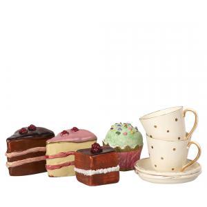Maileg - 11-9300-00 - Cakes & tableware for 2 (406470)