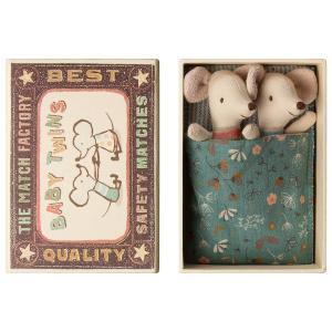Maileg - 16-9712-01 - Bébés Souris, Jumeaux dans leur boîte -  8 cm (406502)