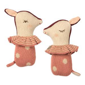 Maileg - 16-9910-00 - Bambi rattle - Rose - Taille 14 cm - de 0 à 36 mois (406562)