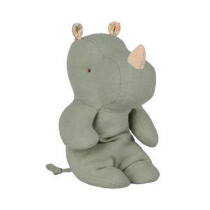 Maileg - 16-9920-00 - Safari friends, Small rhino - Dusty green - Taille 22 cm - de 0 à 36 mois (406568)