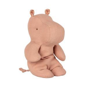 Maileg - 16-9924-00 - Peluche Safari friends, Petit Hippo - rose - 22 cm (406574)