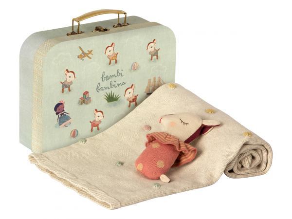 Set cadeau naissance - valisette avec couverture