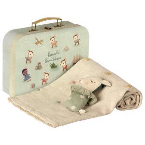 Maileg - 19-9320-01 - Baby gift set - Dusty mint - Taille 8 cm - de 0 à 36 mois (406614)