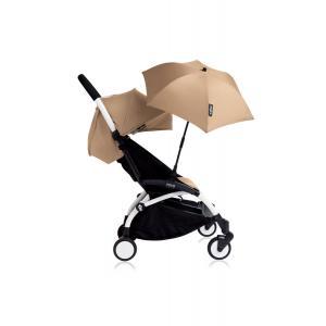 Babyzen - Bu127 - Poussette YOYO+ 6+ (cadre blanc) Taupe et son ombrelle (406634)
