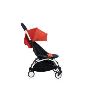 Babyzen - Bu132 - Poussette YOYO+ 6+ (cadre blanc) Rouge et repose-pieds (406652)