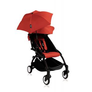 Babyzen - Bu141 - Poussette YOYO+ 6+ (cadre noir) Rouge et son ombrelle (406670)