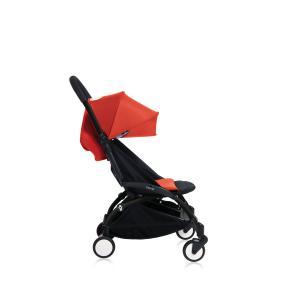 Babyzen - Bu150 - Poussette YOYO+ 6+ (cadre noir) Rouge et repose-pieds (406688)