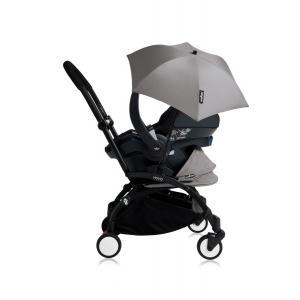 Babyzen - Bu160 - Poussette YOYO+ tout-en-un (cadre noir) pack naissance Gris siège-auto Izigo Modular noir et ombrelle (406708)