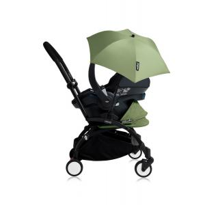 Babyzen - Bu161 - Poussette YOYO+ tout-en-un (cadre noir) pack naissance Peppermint siège-auto Izigo Modular noir et ombrelle (406710)