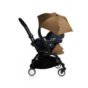 Babyzen - Bu165 - Poussette YOYO+ tout-en-un (cadre noir) pack naissance Toffee siège-auto Izigo Modular noir et ombrelle (406718)