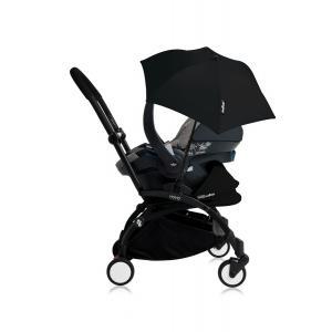 Babyzen - Bu166 - Poussette YOYO+ tout-en-un (cadre noir) pack naissance Noir siège-auto Izigo Modular gris et ombrelle (406720)