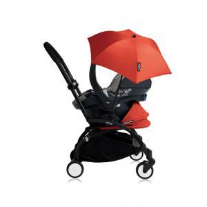 Babyzen - Bu168 - Poussette YOYO+ tout-en-un (cadre noir) pack naissance Rouge siège-auto Izigo Modular gris et ombrelle (406724)