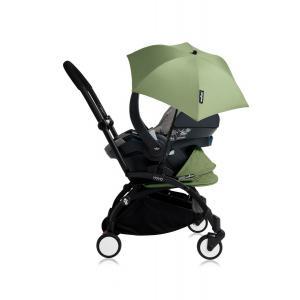 Babyzen - Bu170 - Poussette YOYO+ tout-en-un (cadre noir) pack naissance Peppermint siège-auto Izigo Modular gris et ombrelle (406728)