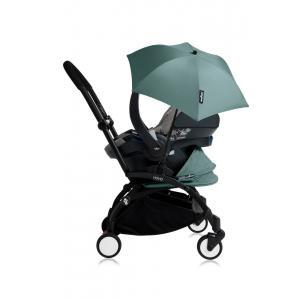 Babyzen - Bu173 - Poussette YOYO+ tout-en-un (cadre noir) pack naissance Aqua siège-auto Izigo Modular gris et ombrelle (406734)