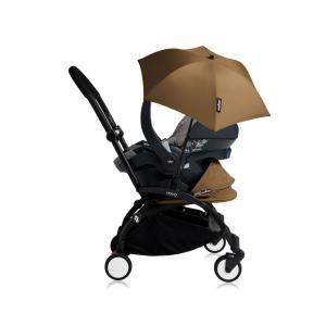 Babyzen - Bu174 - Poussette YOYO+ tout-en-un (cadre noir) pack naissance Toffee siège-auto Izigo Modular gris et ombrelle (406736)