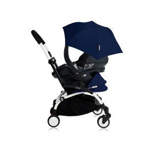 Babyzen - Bu176 - Poussette YOYO+ tout-en-un (cadre blanc) pack naissance Beu Air France siège-auto Izigo Modular noir et ombrelle (406740)
