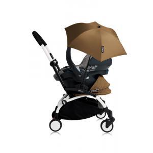 Babyzen - Bu183 - Poussette YOYO+ tout-en-un (cadre blanc) pack naissance Toffee siège-auto Izigo Modular noir et ombrelle (406754)