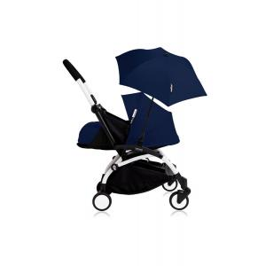 Histoire d'ours - Bu194 - Poussette YOYO+ 0+ (cadre blanc) Beu Air France et son ombrelle (406776)