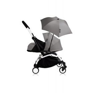 Babyzen - Bu196 - Poussette YOYO+ 0+ (cadre blanc) Gris et son ombrelle (406780)