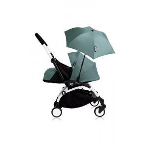 Babyzen - Bu200 - Poussette YOYO+ 0+ (cadre blanc) Aqua et son ombrelle (406788)