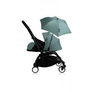 Babyzen - Bu209 - Poussette YOYO+ 0+ (cadre noir) Aqua et son ombrelle (406806)