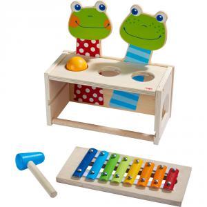 Haba - 304271 - Banc à marteler musical Concert de grenouilles (407070)