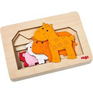 Haba - 304611 - Puzzle en bois Animaux de la ferme (407292)