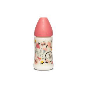Suavinex - 304809 - Biberon 270 ml tétine silicone ronde 3 vitesses papillon rose (407838)