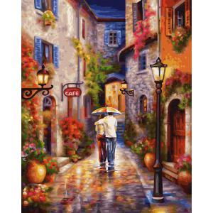 Schipper - 609130788 - Peinture aux numeros - Romantic Alleyway - Taille 40 x 50 cm (408512)