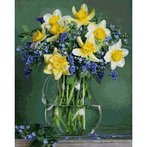 Schipper - 609130789 - Peinture aux numeros - A bunch of spring flowers - Taille 40 x 50 cm (408514)