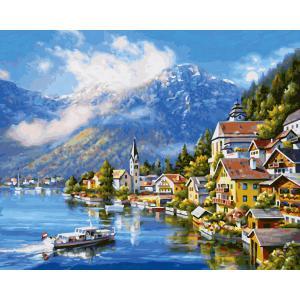 Schipper - 609130802 - Peinture aux numeros - Am Hallstätter See - Taille 40 x 50 cm (408518)