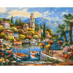 Schipper - 609240798 - Peinture aux numeros - Le Lac de Côme 24x30cm (408530)