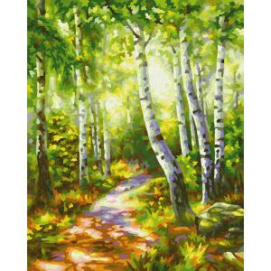 Schipper - 609240801 - Peinture aux numeros - Small Birch Tree Wood - Taille 24 x 30 cm (408536)