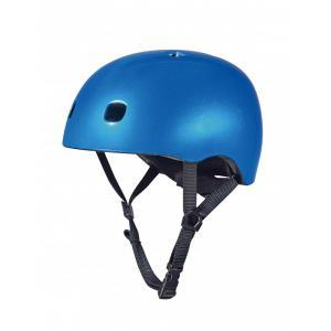 Micro - AC2082BX - Casque Bleu foncé brillant - Nouvelle gamme - lumière LED intégrée - Taille S (408568)
