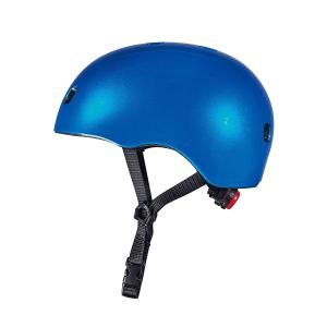 Micro - AC2083BX - Casque Bleu foncé brillant - Nouvelle gamme - lumière LED intégrée - Taille M (408570)
