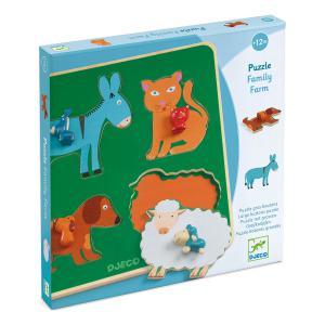 Djeco - DJ01061 - Puzzle gros boutons Family Farm (408702)