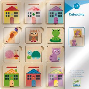 Djeco - DJ01520 - Puzzle bois Cabanimo (408710)
