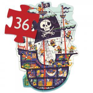 Djeco - DJ07129 - Puzzle géants Le bateau des pirates (408834)