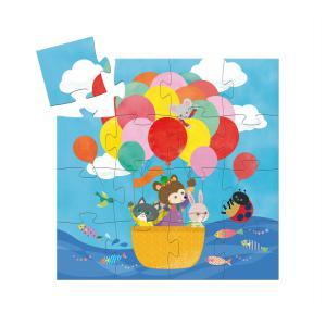 Djeco - DJ07270 - Puzzle silhouettes La montgolfière - 16 pièces (408842)