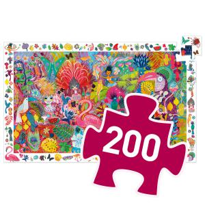 Djeco - DJ07452 - Puzzles observation -  Carnaval de Rio - 200 pièces (408846)
