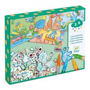 Djeco - DJ08997 - Coloriages - Un monde à créer, animaux (408946)