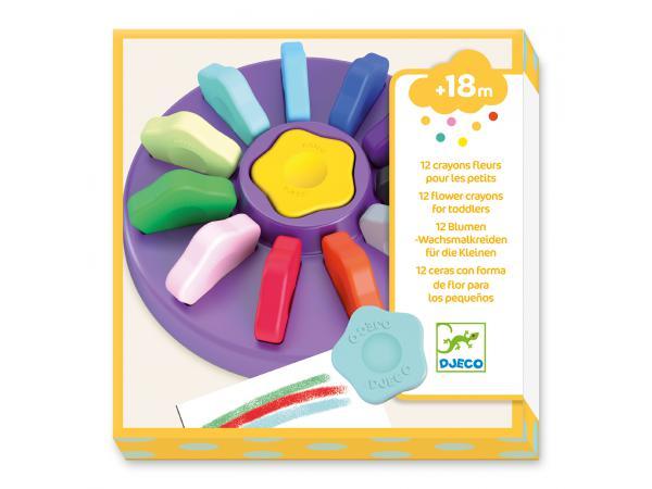 Les couleurs - pour les petits - 12 crayons fleurs